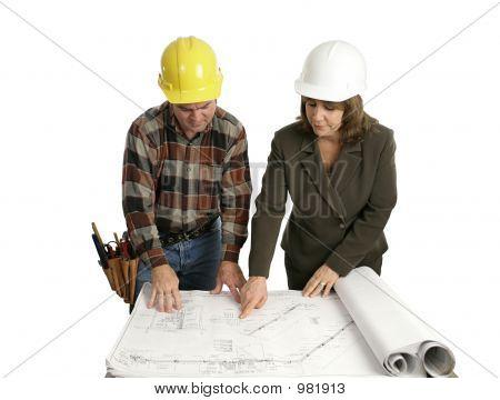 Engineer & Congractor Review Blueprints