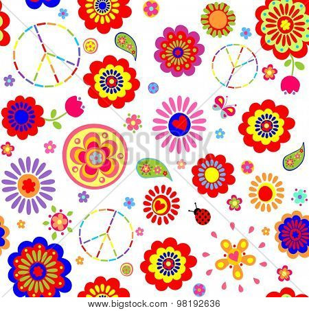 Hippie childish colorful wallpaper