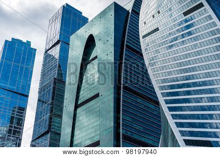 Skyscrapers Of Moscow City Business Center