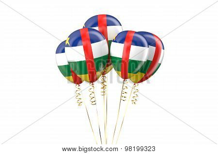 Central African Republic Car Patriotic Balloons Holyday Concept