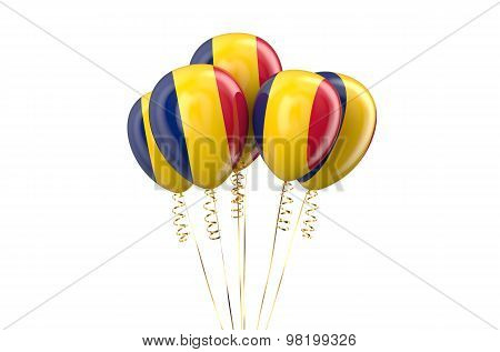 Chad Patriotic Balloons, Holyday Concept