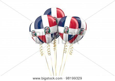 Dominican Republic Patriotic Balloons Holyday Concept