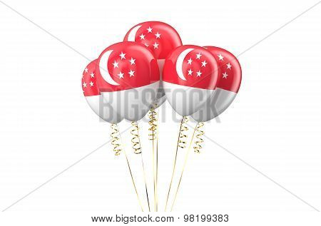 Singapore Patriotic Balloons Holyday Concept