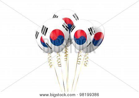 South Korea Patriotic Balloons,  Holyday Concept