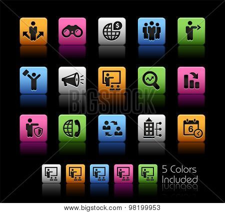 Business Opportunities and Strategies // ColorBox Series ---- The Vector file includes 5 color versions for each icon in different layers --