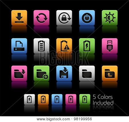 Energy and Storage Icons // ColorBox Series ---- The Vector file includes 5 color versions for each icon in different layers --