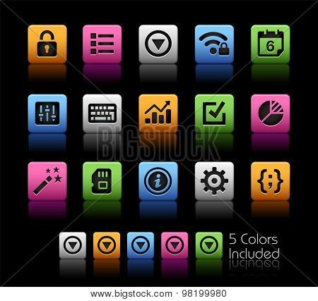 System Settings Interface // ColorBox Series ---- The Vector file includes 5 color versions for each icon in different layers --