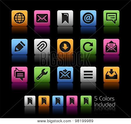 Messages Icons // ColorBox Series ---- The Vector file includes 5 color versions for each icon in different layers --