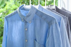picture of apparel  - ironing housework ironed folded shirts clean concept still life garment apparel cloth indoors - JPG