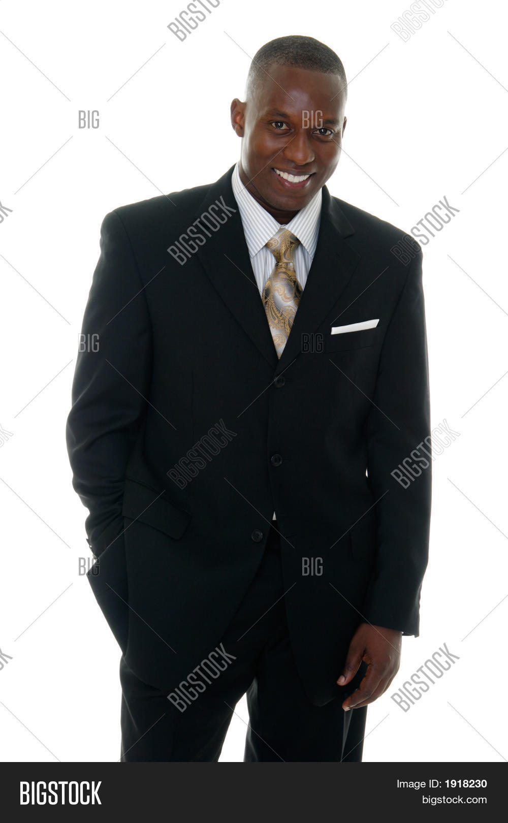 Business Man In Black Suit 3 Stock Photo & Stock Images | Bigstock