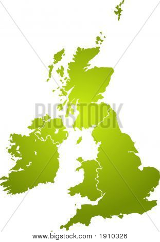 Uk Map Green