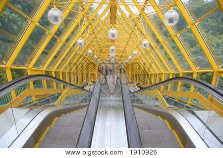 The Escalator Of Pedestrian Bridge