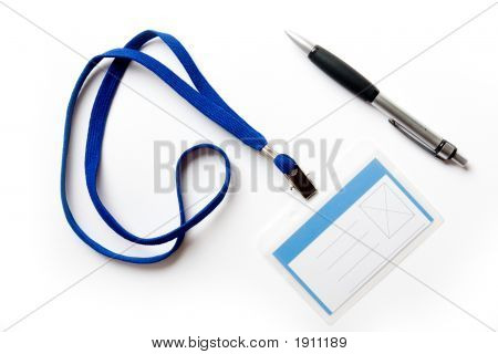 Badge And Pen