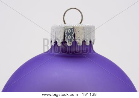 A Purple Christmas Decoration Isolated On White