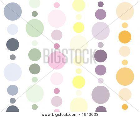 Pastel Polka Dots Background