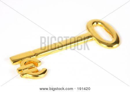Gold Euro Key