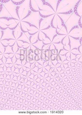 Pink Floral Fractal Background
