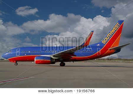 Southwest airlines aiplane on the ramp