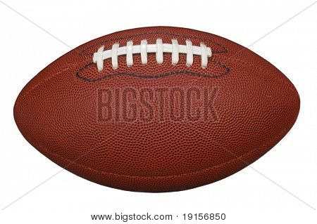 Football with clipping path on a white background