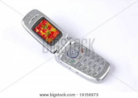 Cell phone on a white backgroung