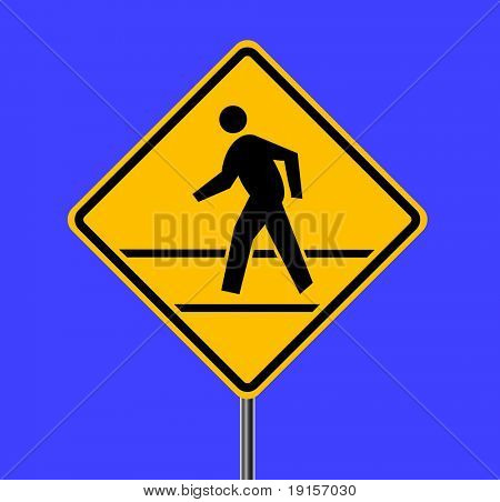 Pedestrian traffic sign - VECTOR