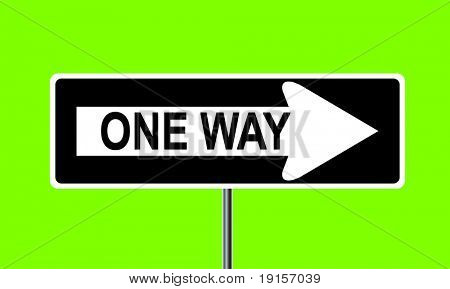 One way traffic sign - VECTOR