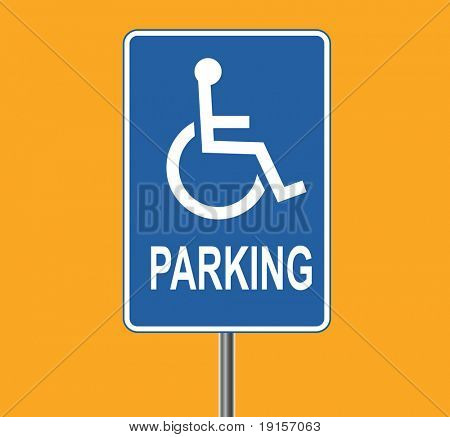 Standard disabled sign - VECTOR