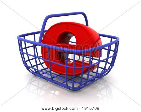 Consumer'S Basket With Symbol For Internet