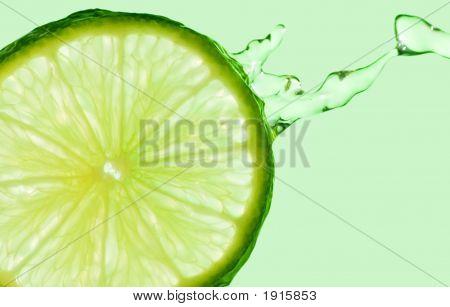 Lime Splash On Green