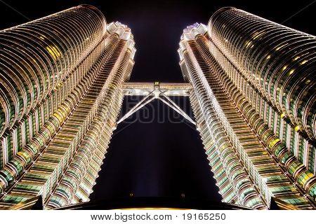 Petronas Twins Towers by night, Kuala Lumpur, Malaysia
