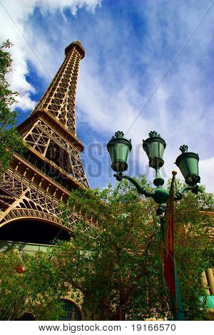 Replica of Eiffel tower in Las Vegas