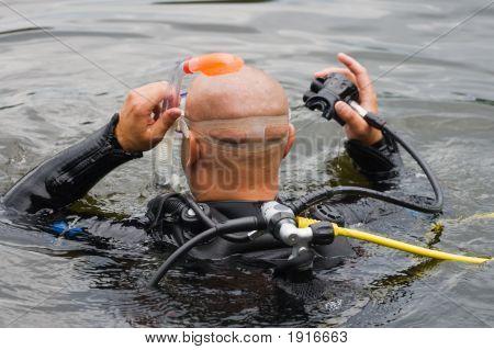 Scuba Diver Before Diving