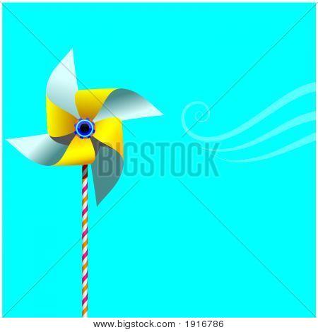 Pinwheel On Blue