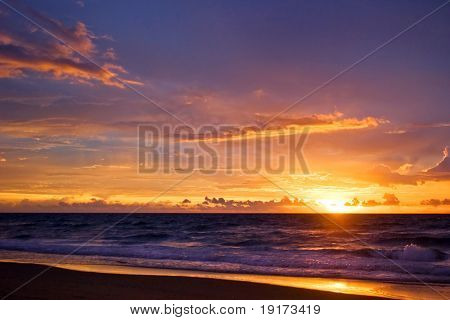 Tropical sunset on the beach
