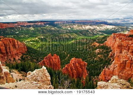View from viewpoint of Bryce Canyon. Utah. USA
