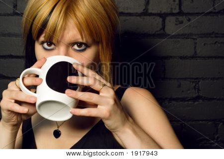 Drinking Coffee