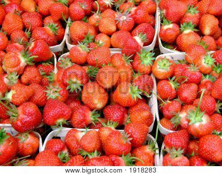 Fresh Strawberries Macro