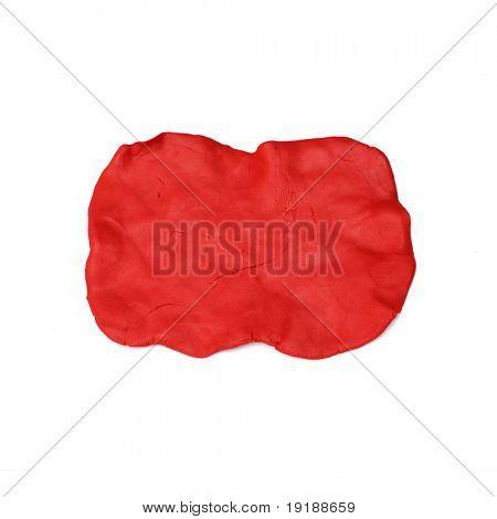 red plasticine texture