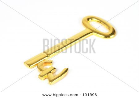 Gold Pound Key