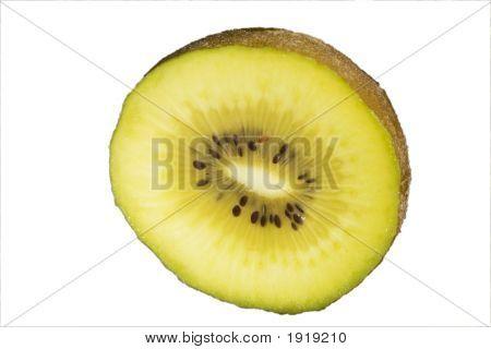 Sliced Golden Kiwifruit
