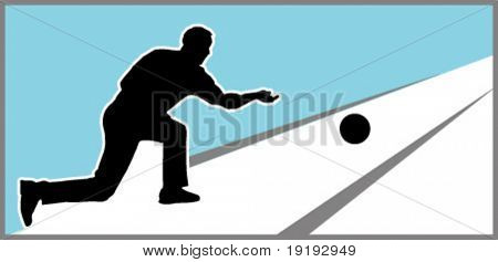 silhouette of man bowling