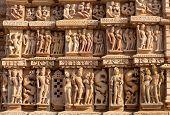 Famous Erotic Temple In Khajuraho, India poster