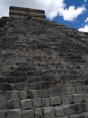 picture of ziggurat  - the ancient ziggurat of chichen itza at mexico - JPG