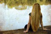 image of blonde woman  - Solitude - JPG