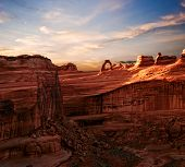 Landscapes of Utah. It is photographed in Arches canyon. Utah. USA.