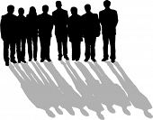 image of person silhouette  - group of people - JPG