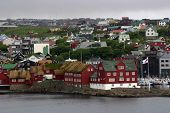foto of faroe islands  - The lovely village of Torshavn in the Faroe Islands - JPG