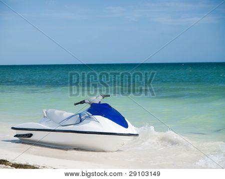 Azul y blanco Wave Runner