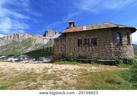 Chapel In Pordoi Pass, Italy