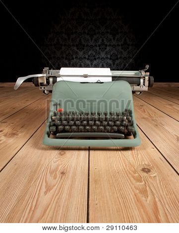 vintage typewriter on an ancient background